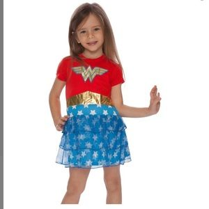 Wonder Woman Red & Blue Tiered Skirt Nightgown